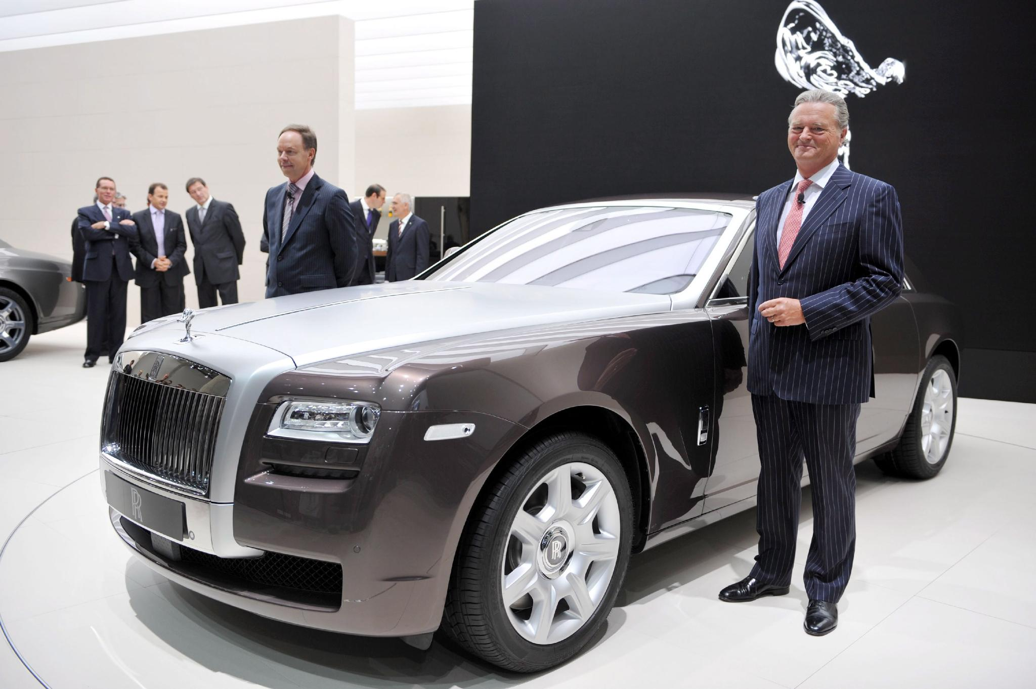 Tom Purves, chairman of Rolls Royce presented the new Ghost