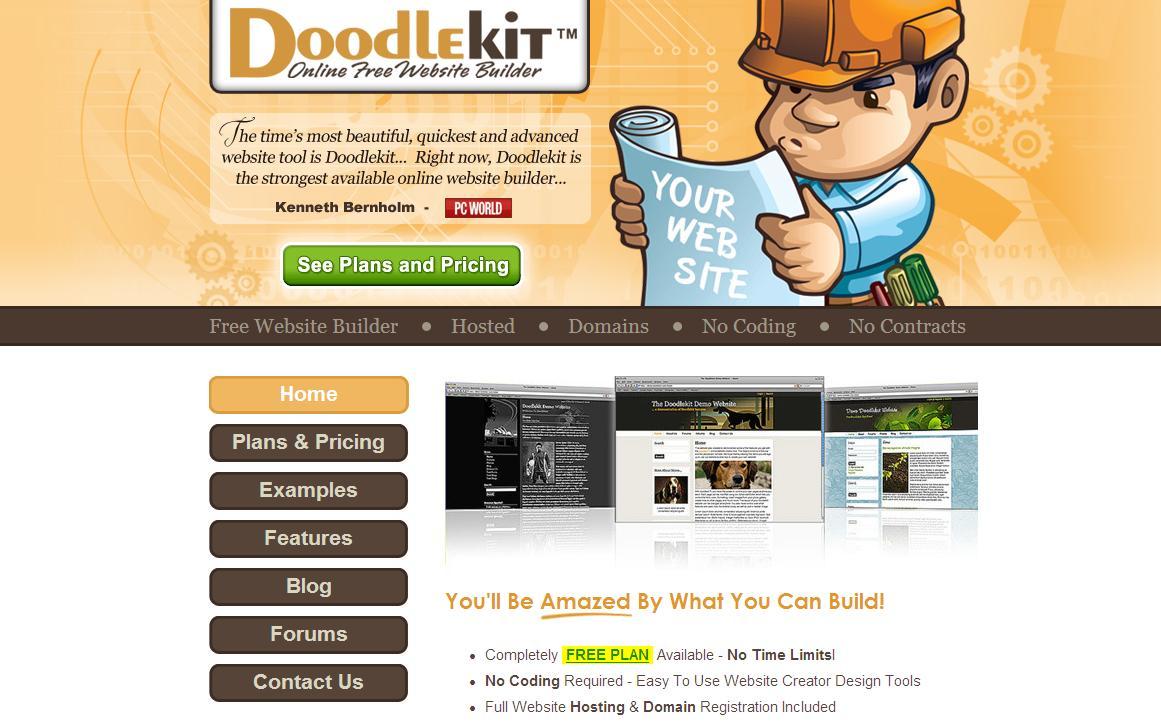 Doodlekit - free, online website builder