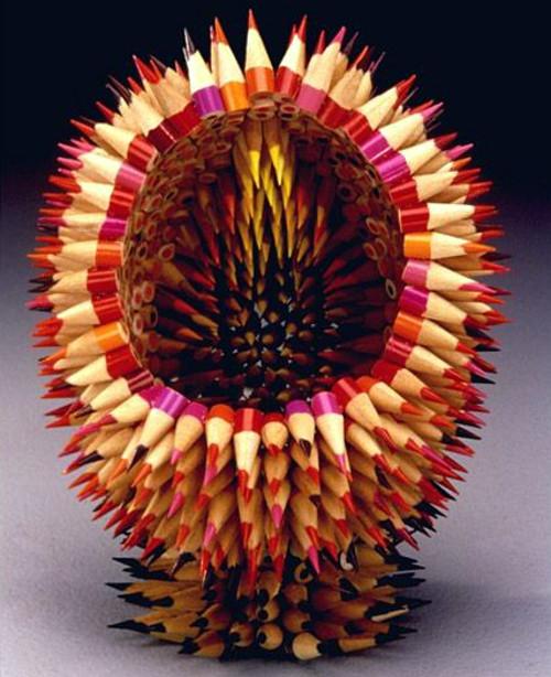 Pencil Sculptures - Disected CPencil Cactus
