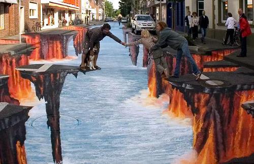 Edgar Mueller 3D Street Art - Crevasse