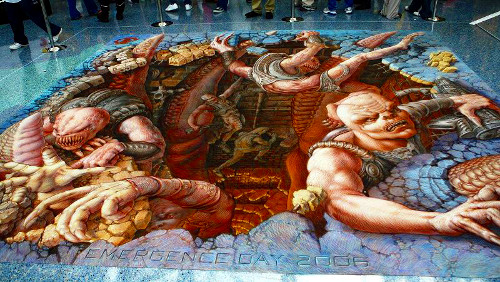 Edgar Mueller 3D Street Art - Hell Unleashed