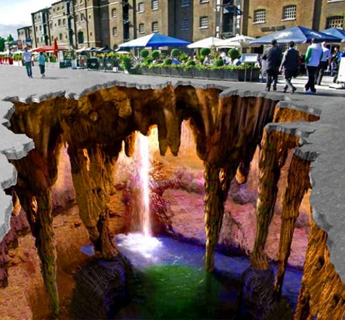 Edgar Mueller 3D Street Art - Underground Cave