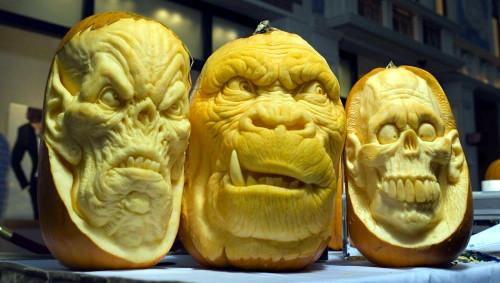 Beast Face Pumpkin Carving (image www.ibtimes.com). Amazing Halloween Pumpkin Carvings