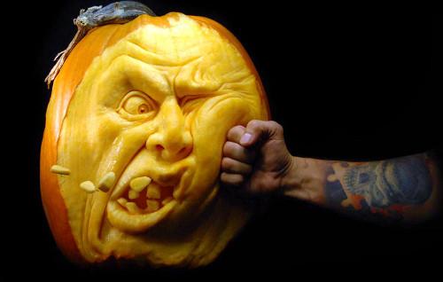 Punch Pumpkin Carving (image twistedsifter.com). Amazing Halloween Pumpkin Carvings