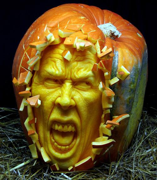 Screaming Pumpkin Carving (image www.aldovega.com). Amazing Halloween Pumpkin Carvings