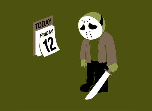 Snorgtees Friday the 12th T-Shirt Design