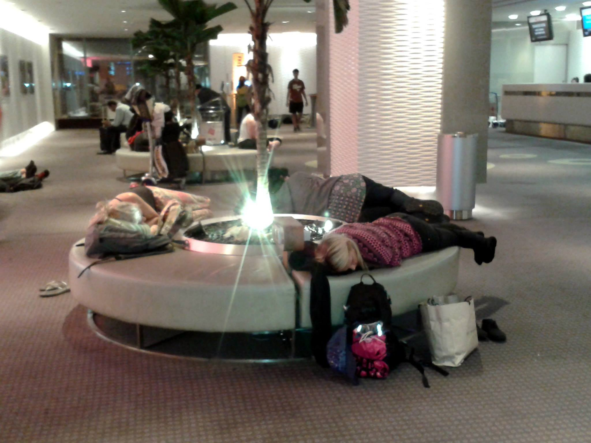 Travel Indonesia Blog: Sleeping Pale Folk at Singapore Airport