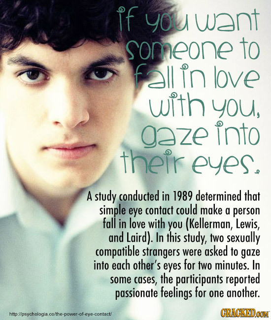 Influencing People Using Body Language - Eye Gaze Love (image: AuntieMeme)
